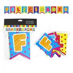 "Banner ""Felicidades"" Colores"