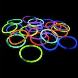 Pulseras luminosas (Set de 10)